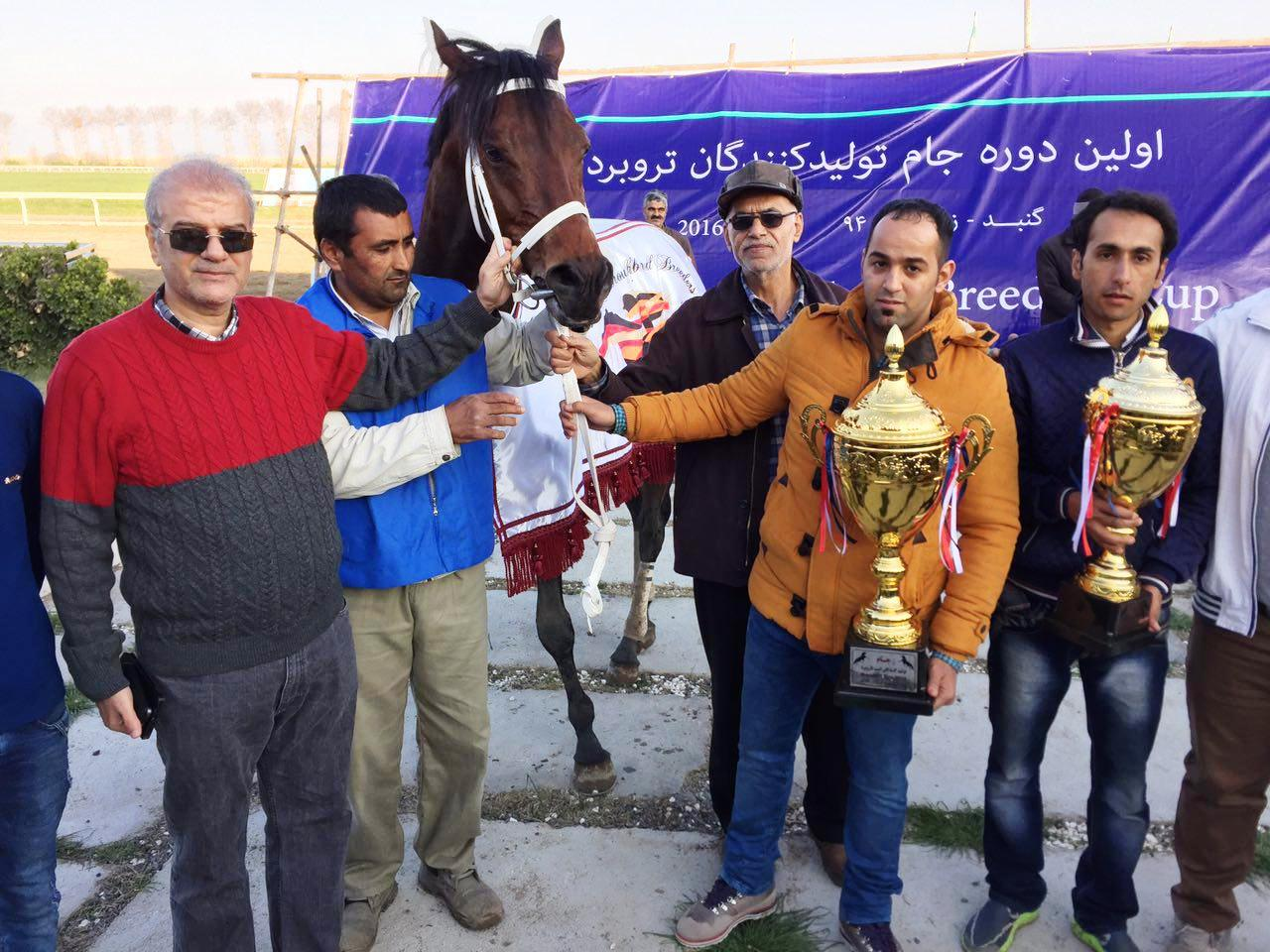 Carrera a 3 years old colt by Pomellato in first derby in Iran